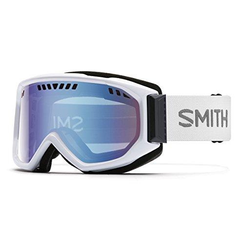 Smith Erwachsene Skibrille Scope Pro Blauer Sensor Mirror/Weiß/Schwarz, One Size