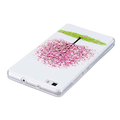 Vandot Huawei P8 Lite Coque de Protection Etui Transparent Antidérapant Pour Huawei P8 Lite Etui Protection Dorsale Étui Slim Invisible Housse Cover Case en TPU Gel Silicone Hull Shell-Blanc Light-2