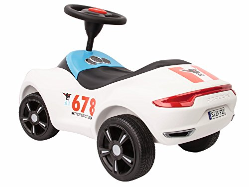 BIG Spielwarenfabrik 800056348 - Baby-Porsche Premium, Rutschfahrzeug, weiß - 4