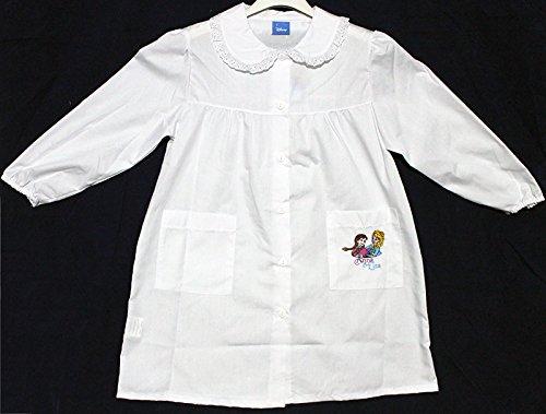 Grembiule scuola elementare, bianco - disney frozen elsa e anna - colore bianco taglia grembiule 85 - altezza 140 cm - 10 anni