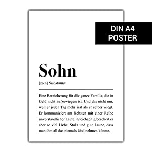 DIN A4 Poster: Sohn Definition