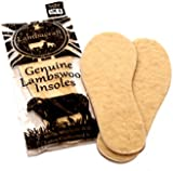 2x Pairs of Genuine Lambacraft Lambswool Insoles Thermal 100% Lambs Wool from Sheepskin All Sizes Inner Soles