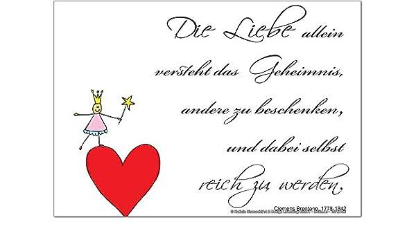 Möbel & Wohnaccessoires LEotiE SINCE 2004 Kühlschrankmagnet Sprüche Liebe
