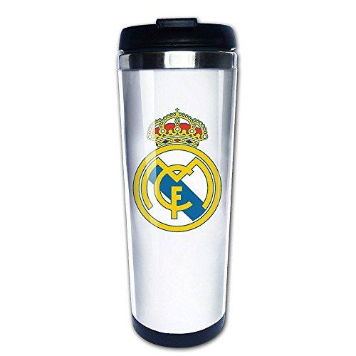 QIDAMIAO Real Madrid CF Logo Vacuum Cup Coffee/Travel Mug(Teetassen/Kaffeetassen)s