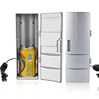 Garosa Portable Mini USB Fridge Beverage Beer Drink Cans Cooler/Warmer Freezer Laptop PC Office Car Refrigerator