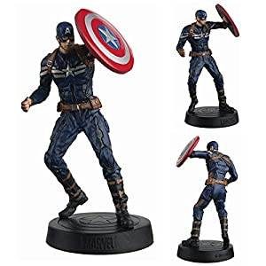 Eaglemoss- Marvel Movie Collection DC Comics Figura de Resina 14mm Capitán América, Multicolor (EAMOMMFRWS008)