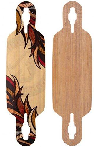 Landyachtz Deck (Fibretec Longboard Drop Through Deck S-Flex 960 - V-lam Bambus Longboard Profi Deck - Medium Flex)