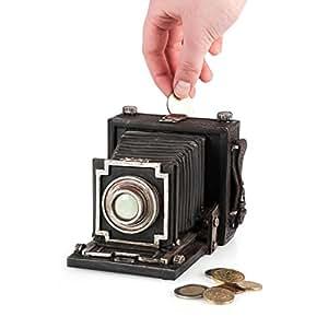 PAJOMA 55170 Spardose Fotoapparat, Kunstharz, Höhe 10 cm