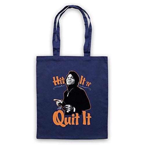 Inspire par James Brown Hit It N Quit It Officieux Sac d'emballage Bleu Fonce