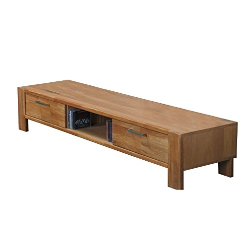 TV-Board MARK Hifi Tisch Board Lowboard Phono Schrank Fernsehschrank Kommode Massiv Eiche (Holz-tv Rustikale)