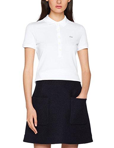 Lacoste Damen Poloshirt Pf7845, Weiß (Blanc) (Herstellergröße: 44)