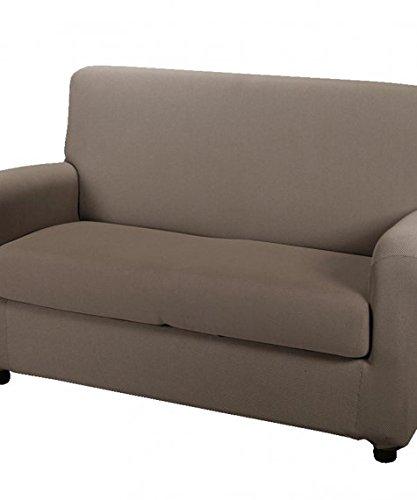 CAMBIO MELANGE COPRIDIVANO per divano a 2 POSTI colore MOKA
