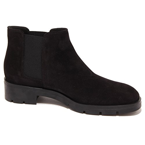 3259P beatles TOD'S GOMMA PESANTE nero stivaletto donna boot woman Nero