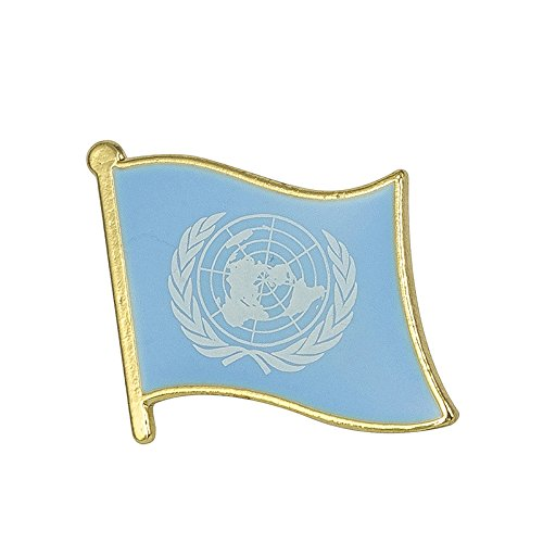 United Nations Vereinten Nationen Flagge Metall Button Badge Pin Pins Anstecker