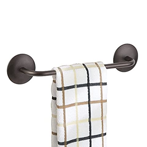 mDesign AFFIXX Peel-and-Stick Strong Adhesive Towel Bar