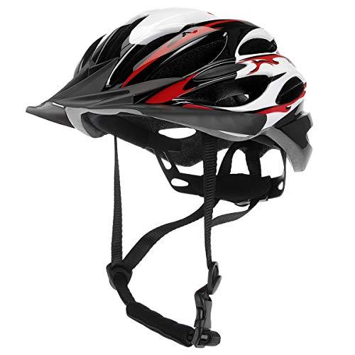 XQmax Allround Fahrradhelm für Kinder & Teenager - Rot | inkl. Luftschlitze - Kinngurt - Schnellverschluss - Crossblende