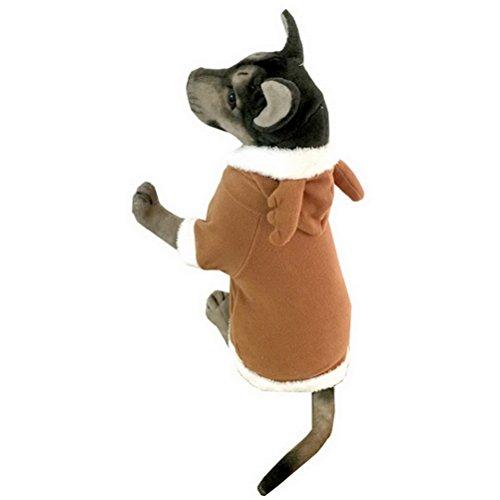 zunea Medium Large für Hunde Elf Kostüm Rentier Pet Kostüme Hooded Fleece Weihnachten Kleidung - Adult Cocker Spaniel Kostüm