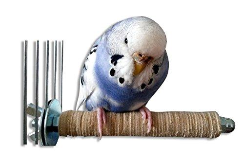 Ergonomische, weiche Sitzstange aus BIO- Leder für Vögel | Das perfekte Zubehör für den artgerecht eingerichteten Vogelkäfig oder die Voliere | Vogelspielzeug für Wellensittich, Nymphensittich