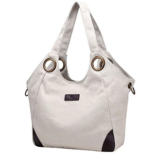 809c05f8d0dc2 PB-SOAR Vintage Damen Canvas Große Schultertasche Umhängetasche Shopper Henkeltasche  Handtasche Hobo Bag Beuteltasche Freizeittasche ...