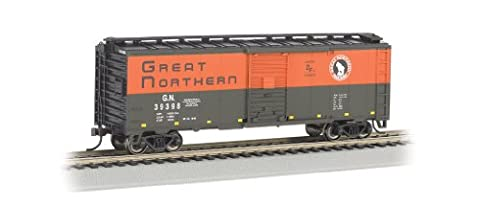 Bachmann Industries Aar 40' Steel Box Car Great Northern Train Car, N Scale
