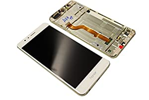 Original Huawei Honor 8 LCD Display Touch Screen Front Glas Scheibe Rahmen white/weiß