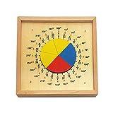 xMxDESiZ Montessori Runde Anzeigetafel Kinder Berechnung Messwinkel Lernspielzeug