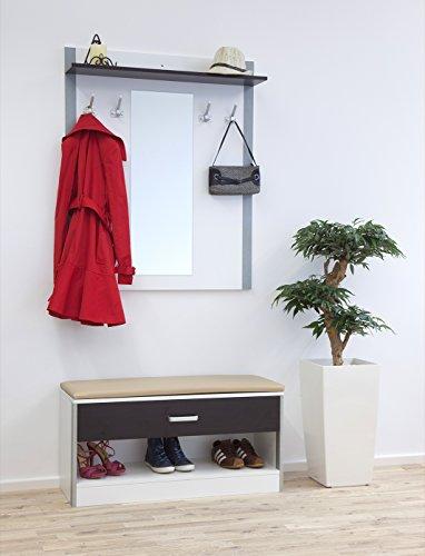 TOSCANA – Die komfortable Designer Garderobe mit Schuhschrank & Kommode zum Sitzen
