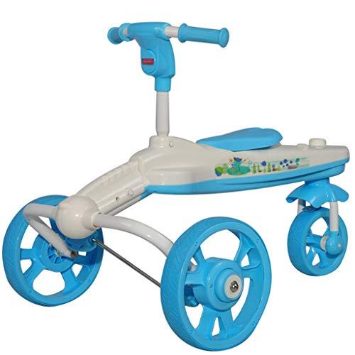 LiRuShop Fahrrad, Trikes & Ride-Ons, Drehroller/Kinder-WackelGyro/Swing Car Outdoor Kinder-Dreirad, Plastik, blau, 61 * 59cm