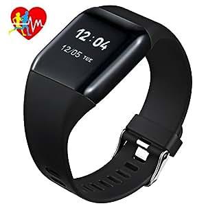 Mpow Smart Watch Cardiofrequenzimetro IP67, Braccialetto Fitness Tracker 1.0'' OLED Schermo Fitness Watch Orologio Uomo Donna Contapassi Monitor del Sonno Pedometro Chiamate/SMS Alert Carica Rapida