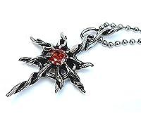 Epinki Stainless Steel Pendant Necklace, Mens Vintage Punk Rock Silver Black Sun Titans Necklace