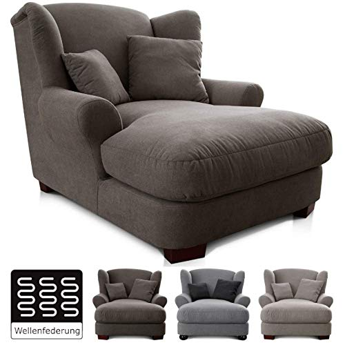 Cavadore 2198824 XXL-Sessel Love Seats dunkelgrau