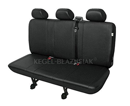 ZentimeX Z924569 Sitzbezüge Dreierbank Kunstleder schwarz