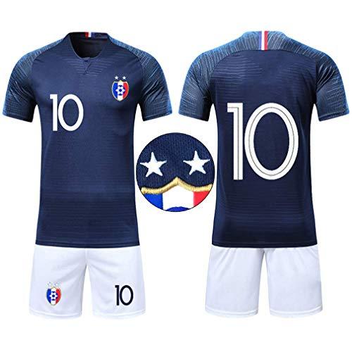 watch 3e929 49d7b OUJD Maillots de Football de France Soccer Jersey 2018 2 étoiles Coupe du  Monde Champion Maillot