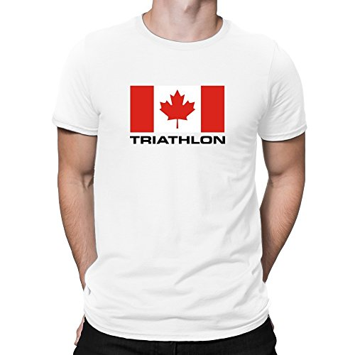 Teeburon Flag Canada Triathlon T-Shirt