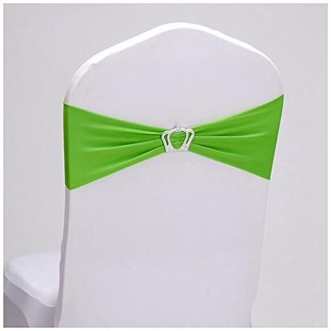 Lugii Cube Spandex Housse de chaise Banquet de mariage Couronne Décor (Vert 1pcs)