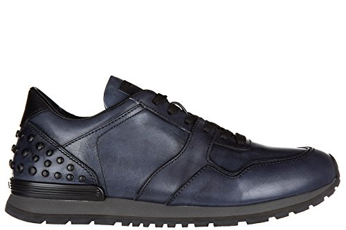 tods-mens-shoes-leather-trainers-sneakers-allacciate-dots-spoiler-blu-uk-size-9-xxm0xh0r011scd3398