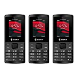 SSKY S-10 Hero, 1.8 Inch Dual Sim Mobile Phone with 1000 mAh Battery Combo of Three Mobile Phones (Black - Black - Black)