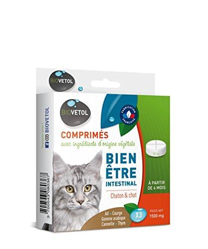 Biovetol - Comprimés Bien-être Intestinal pour chaton et chat à partir de 6 mois - x3