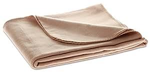 Fleecedecke HOME, Farbe: Beige/Sand, Luxus Qualität mit 220 g/m² von FE-LI-NI