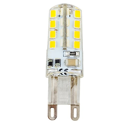 G9 LED Birnen, 3 Watt Warm Weiß 3000K LED Glühbirnen Bi-Pin Sockel (20W Halogen G9 Glühbirnen gleichwertig), AC 230V für Deckenleuchten, Kronleuchter, Innenbeleuchtungen (Bi-pin-sockel W 20)