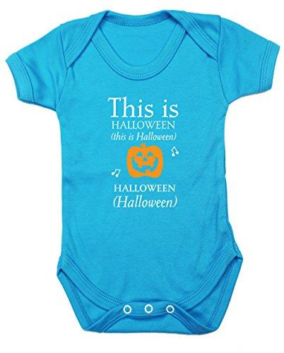 ist Halloween Baby Weste Body (kurzärmlig) Jungen Mädchen, Blau, 1822-BV-SB-18-24 (Halloween-sb)