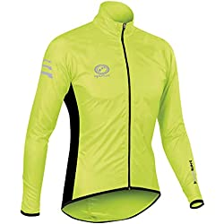 Optimum Nitebrite Chaqueta Impermeable Ciclismo Para Hombre Color Verde Talla S