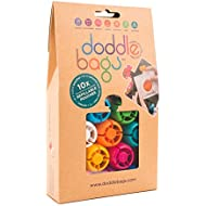 Doddlebags 10 Reusable Pouches, Easy Fill & Clean for Travel, Sport, Baby Food, Gym