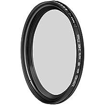 ZOMEI® 77mm ND Filtro Variable Adjustable de Densidad Neutra de Atenuador con Cristal Óptico AGC (ND2 a ND400)