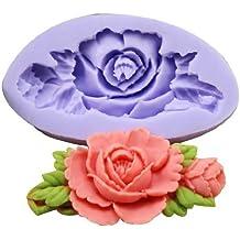 Allforhome - Molde de Silicona Diseño Mini Flor para Decoración de Tartas - Repostería Chocolate Cupcake