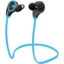 Link-e: Auriculares orejeras casco inalámbrico deporte Bluetooth 4.1 con micrófono - Compatible smartphone, Iphone, Ipad, Android, Windows... Ideal para el deporte, running, fitness... Tecnología APT-X + EDR