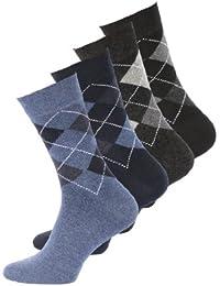 Lot de 8 paires de chaussettes classiques - motif carreaux - sans élastique - homme