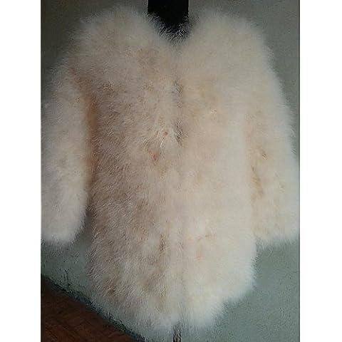 Xi&SOSO A maniche lunghe colletto di pelliccia casual Struzzo / Partito Coat (pi¨´ colori) , burgundy , m - Faux Struzzo
