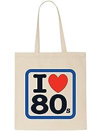 I Love 80's Retro T-Shirt Tote Bag