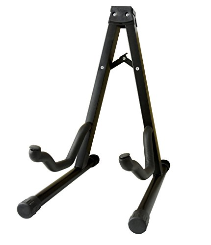 Feibrand Foldable A-Frame Guitar Stand for Acoustic Bass and Electric Guitars Black
